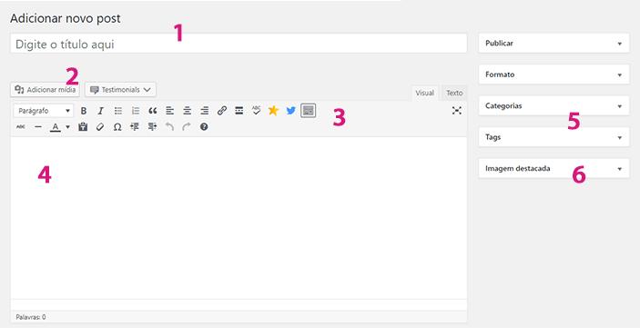 Escreva seu Primeiro Post