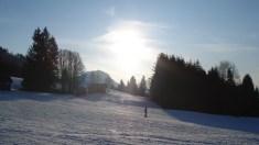 Inverno na Alemanha - Estação de esqui em Allgau- Bayern