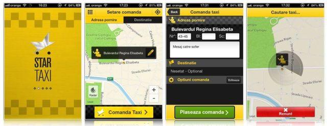 comanda taxi online - star taxi