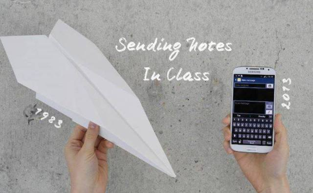 sending notes in class