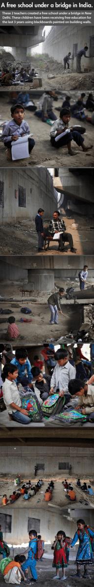 scoala sub pod new delhi