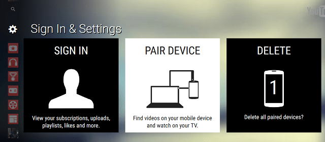 pair device - youtube