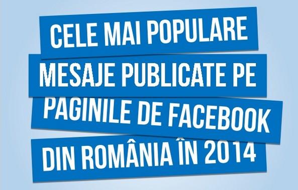 cele mai populare mesaje publicate pe paginile de facebook din romania