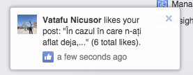 numar total de like-uri notificari