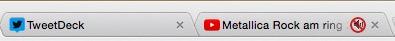 tab cu buton de sunet google chrome pe mut