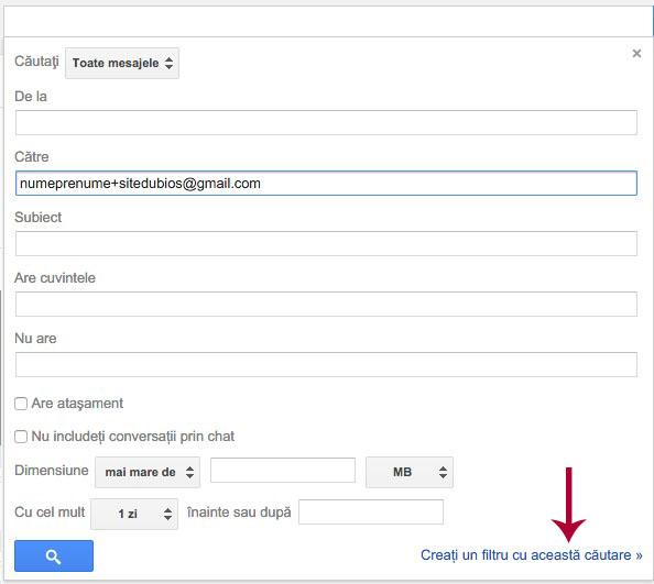 trucuri gmail - 2 filtru