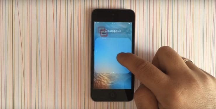 ascunde aplicatiile de pe ecran iphone