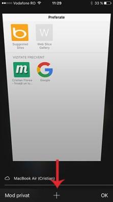 vezi taburile inchise recent - safari iOS 2