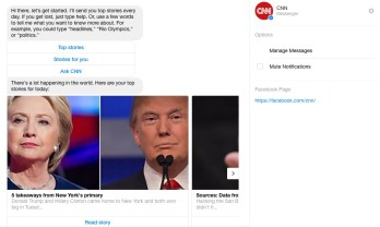 CNN top stories - facebook messenger