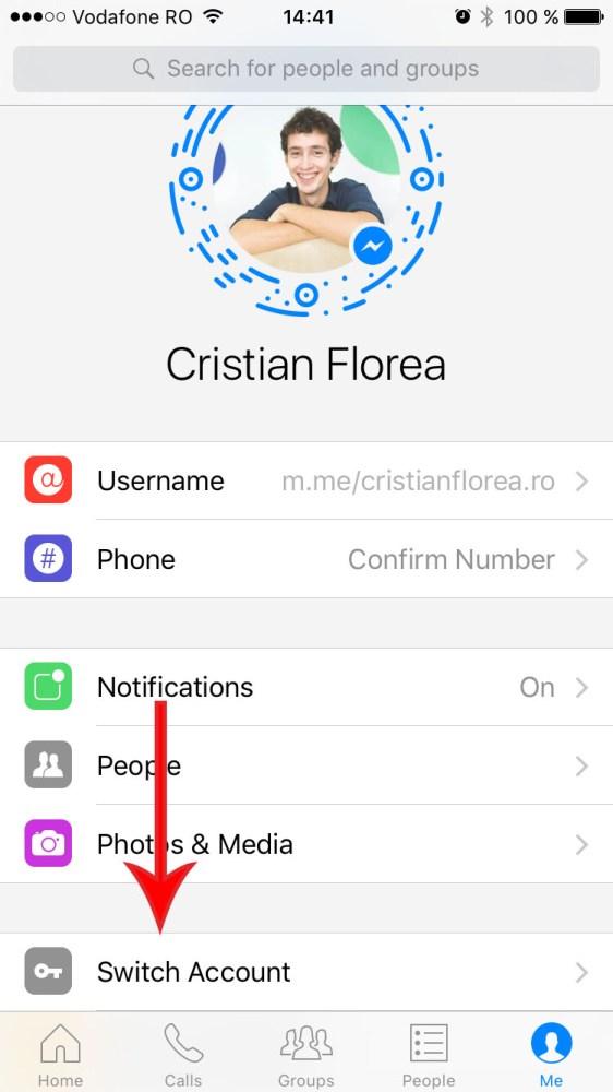 facebook messenger mai multe conturi