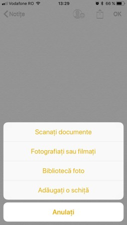 scaneaza documente iphone ios 11