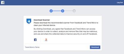 ce faci daca nu te poti loga pe facebook pentru ca zice ca ai laptopul virusat
