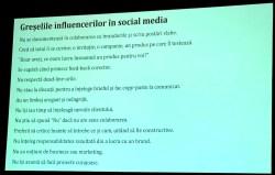 greselile influencerilor in social media
