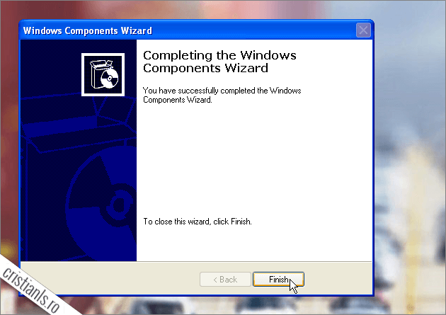 Completing The Windows Components Wizard