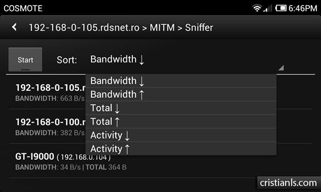 MITM » Simple Sniff - dSploit