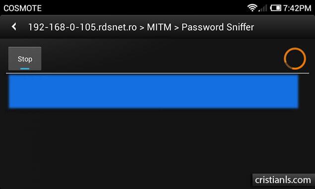 Password Sniffer - dSploit