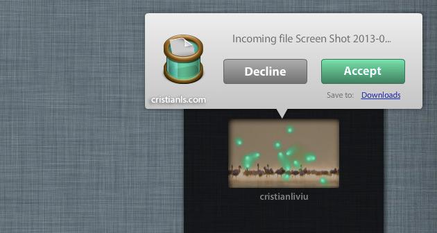 Filedrop în Windows