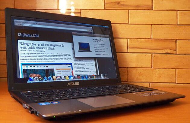 OS X 10.8 instalat în laptop ASUS