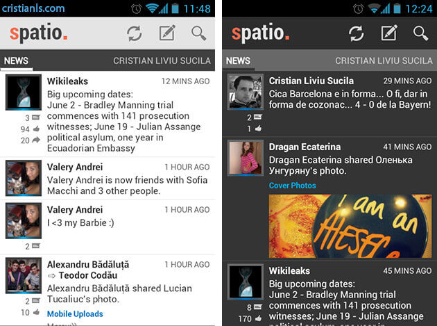 Spatio for Facebook
