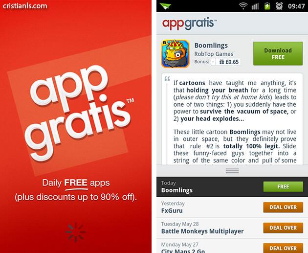 Aplicații și jocuri gratis pentru Android cu AppGratis