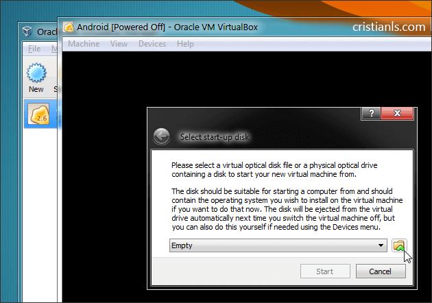 Choose a virtual disk file