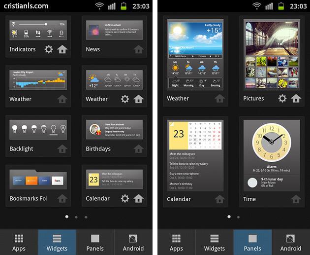 Yandex.Shell - Panels & Widgets