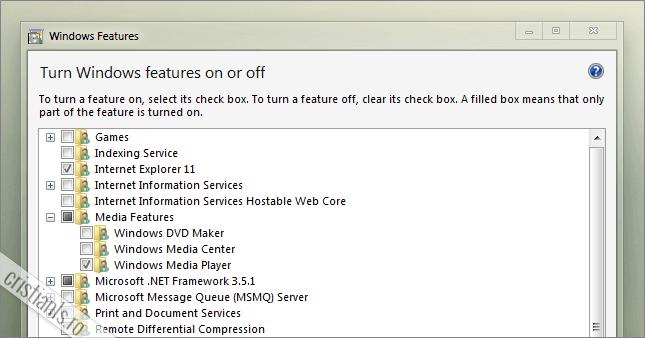 caracteristici windows 7