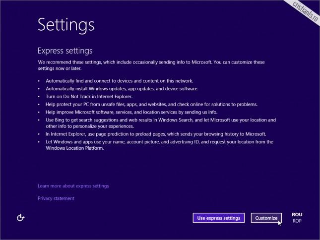 particularizarea sistemului de operare Windows 10
