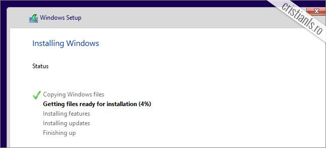 windows 10 se instaleaza