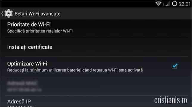 optimizare wifi