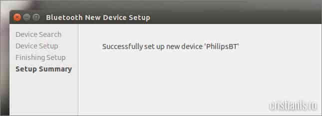 successfully set up new device
