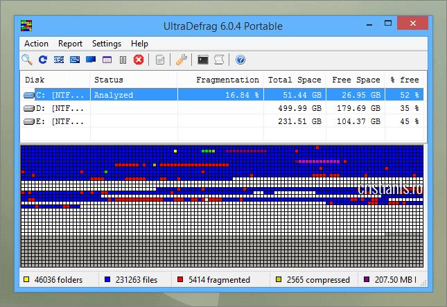 programe de defragmentare-a-hard disk-ului - UltraDefrag