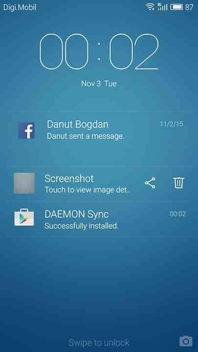 Flyme OS lock screen