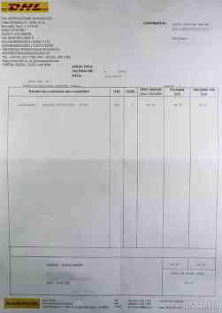 Factură comision DHL