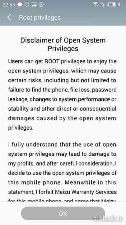 Root privileges - OK