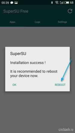 SuperSU - Reboot