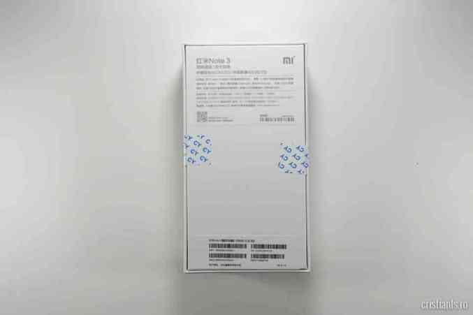 Xiaomi Redmi Note 3 - cutia spate