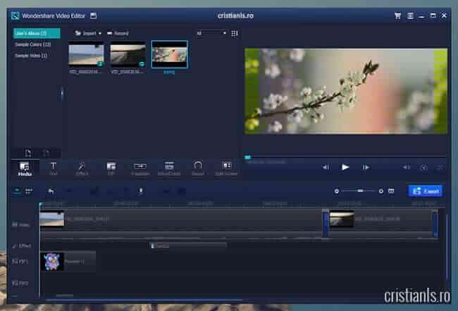 Wondershare Video Editor - program editare video
