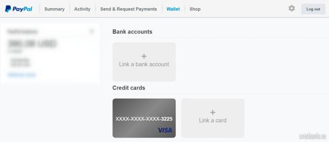 cardul bancar a fost asociat contului paypal