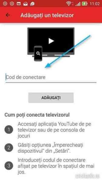 introducere cod de conectare