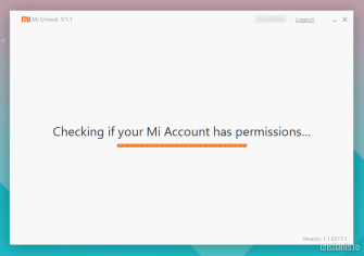 Checking if your Mi Account has permissions
