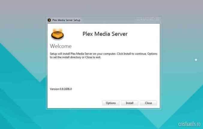 Instalare Plex Media Server