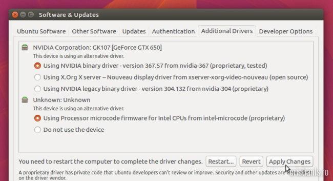 nvidia driver ubuntu