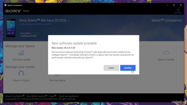 Xperia Companion Software Update