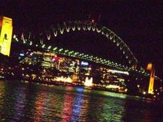 the beautiful Harbour Bridge by night