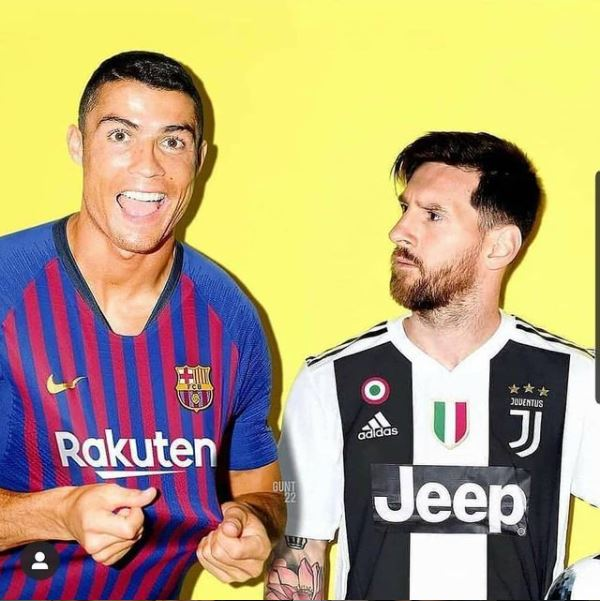the comparison with CR7 and Messi