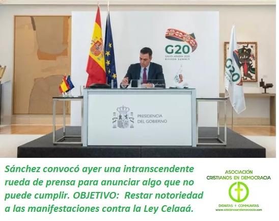Sánchez anuncia un plan de vacunación, aunque las vacunas, que sepamos, aún no estan aprobadas.