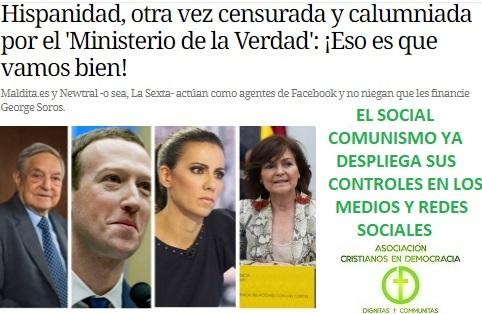 La censura se implanta en España financiada por Soros