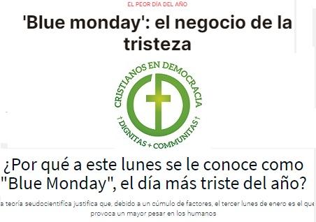 Blue Monday: Un día para descubrir que ni el dinero ni el consumo dan la felicidad.