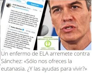 El Gobierno de España quiere abandonar a los enfermos de ELA a la muerte.